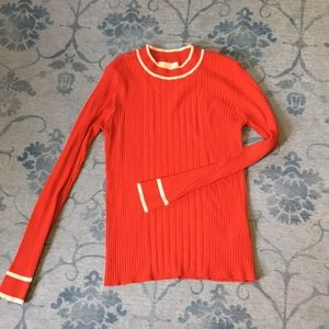 Anthropologie ribbed sweater knit top